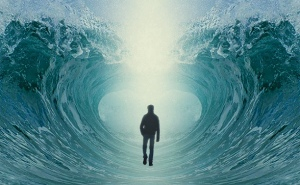 parting of the waters :man
