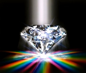 Precious Diamond With Rainbow --- Image by © William Whitehurst/CORBIS