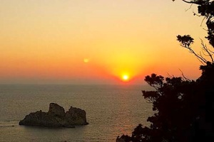 sunset-in-paleokastritsa