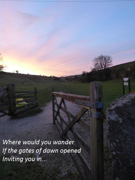 where would you wander if the gates of dawn opened inviting you in